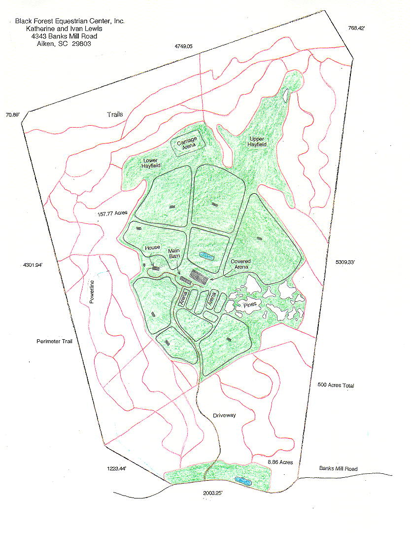 Black Forest Equestrian Center Facility Map